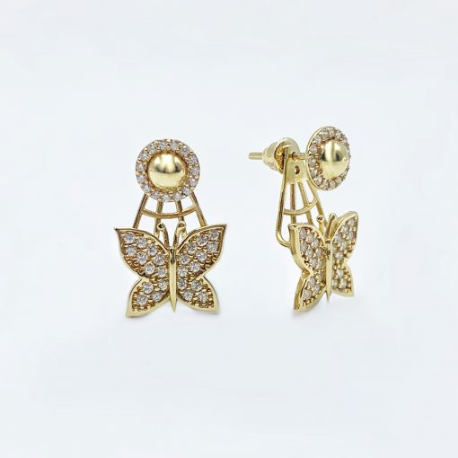 Золоті сережки метелики