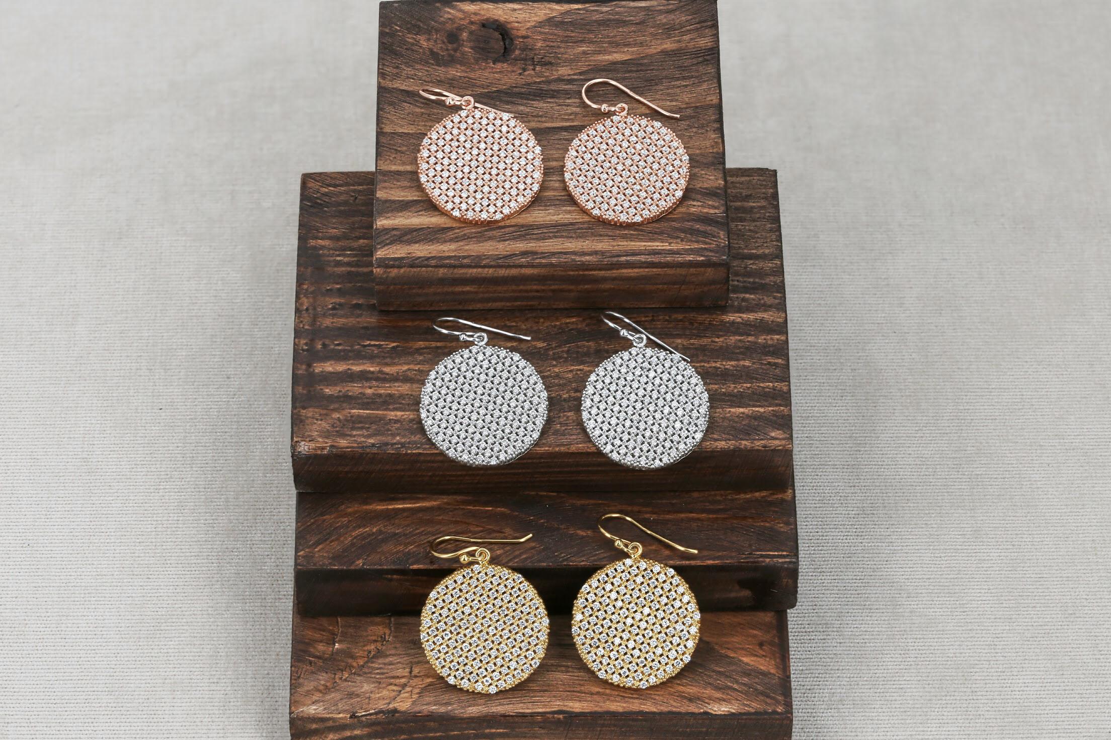Срібні сережки круглі