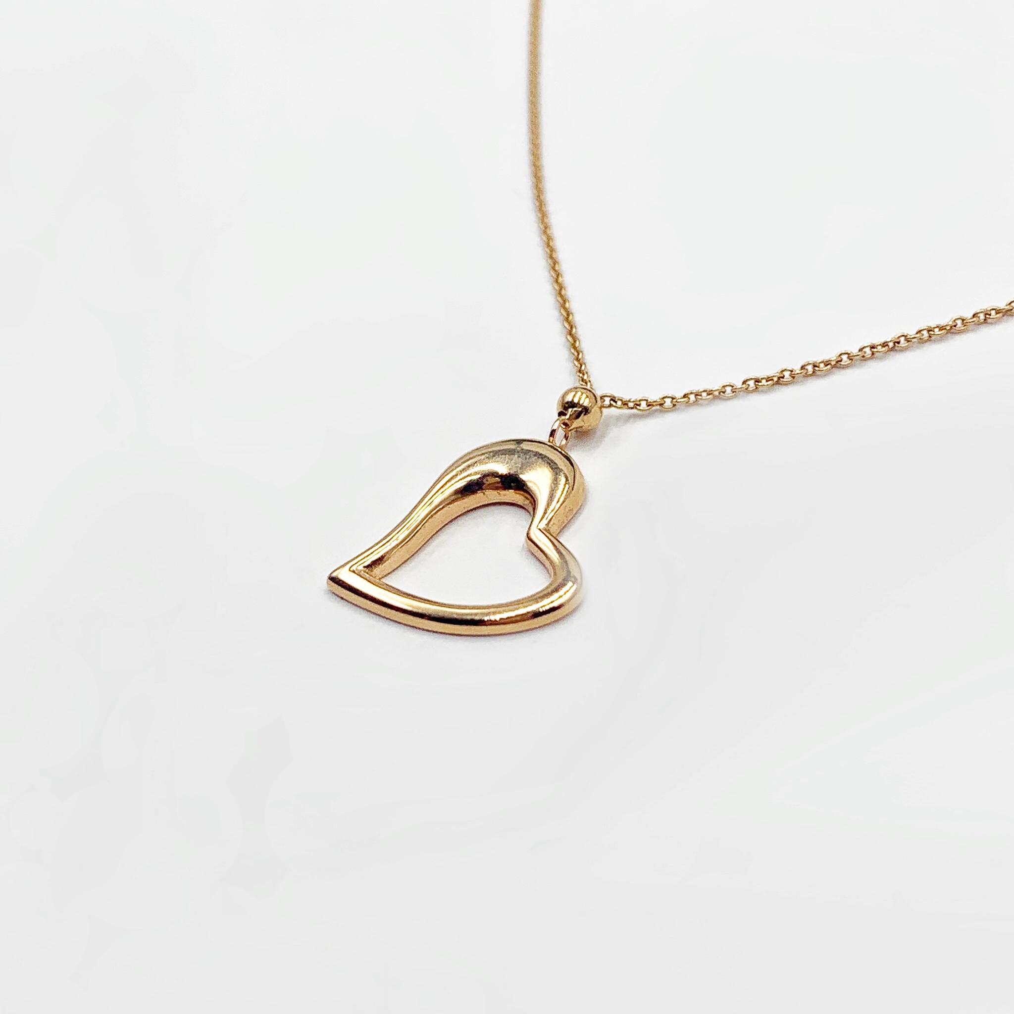 Золоте кольє серце