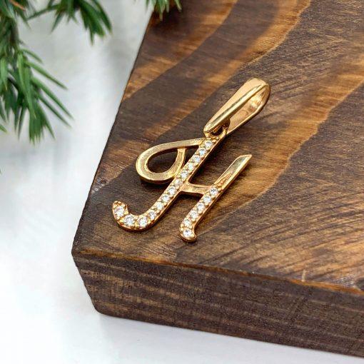 Золота підвіска буква Н