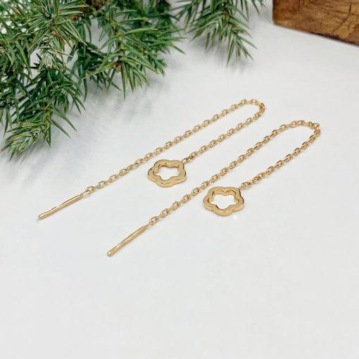 Золоті сережки протяжки