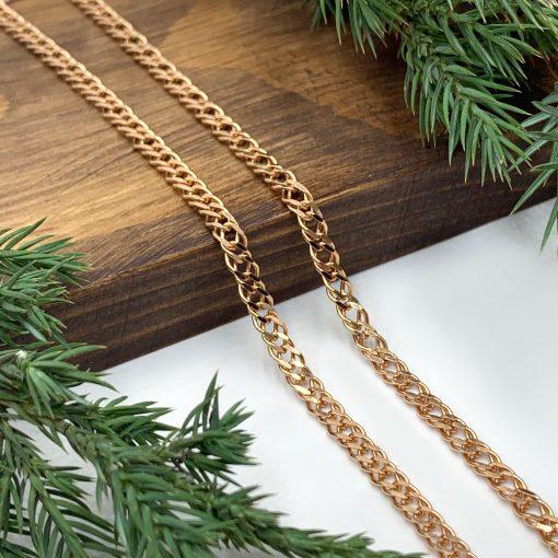 Золотий ланцюжок плетіння ромб