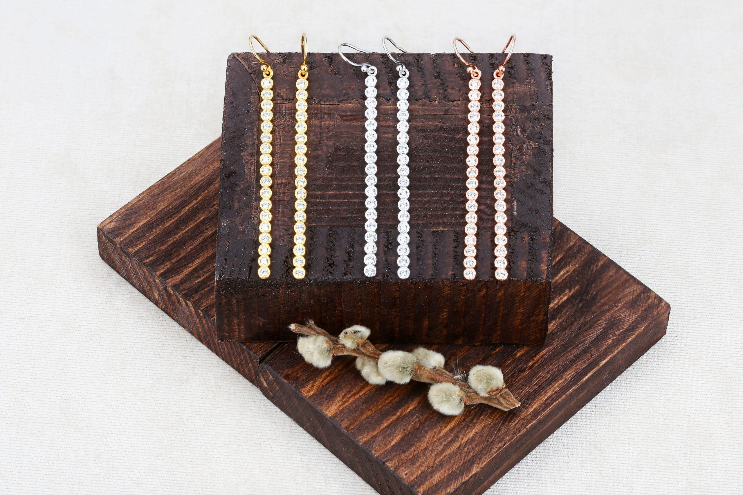 Срібні сережки палички