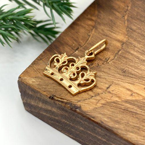 Золота підвіска корона