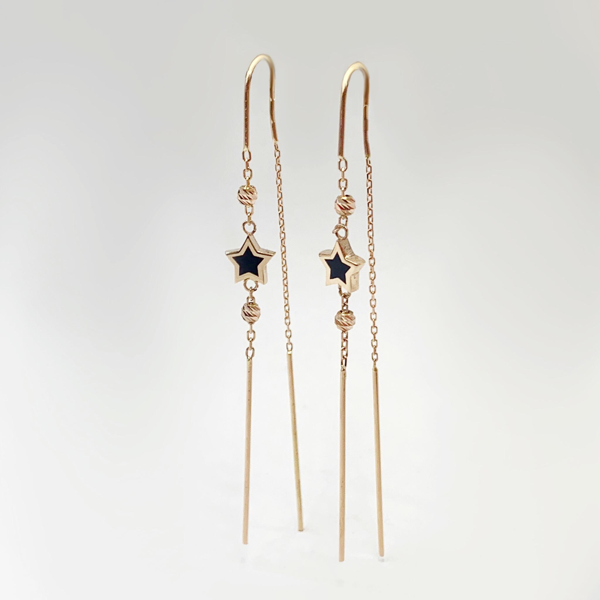 Золоті сережки зірочки