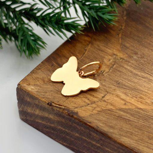 Золота підвіска метелик