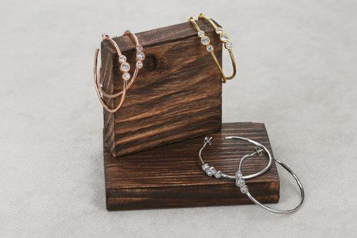 Срібні сережки кільця