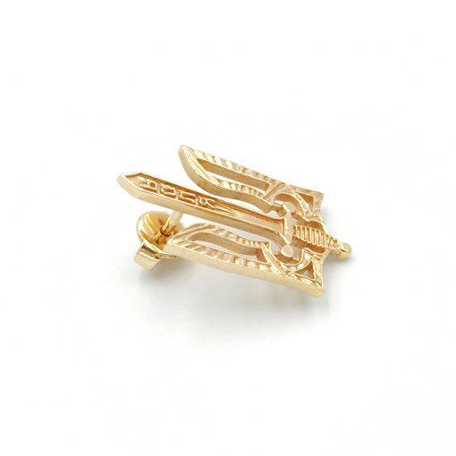 Золота шпилька Тризубець