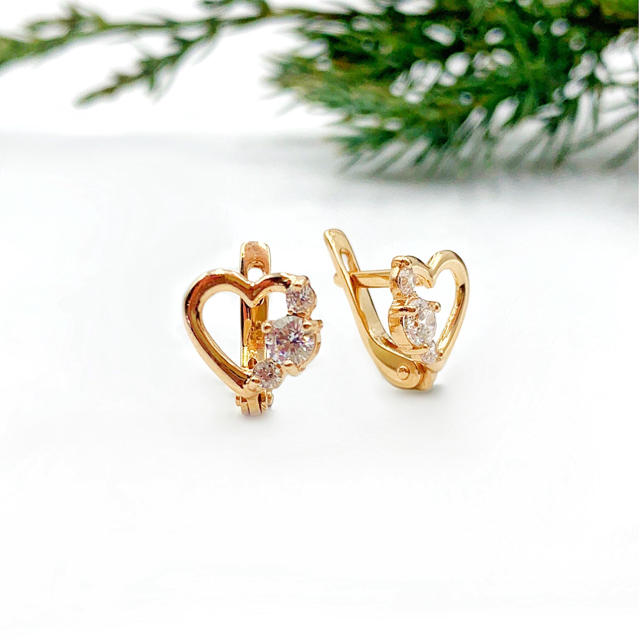 Золоті сережки серце