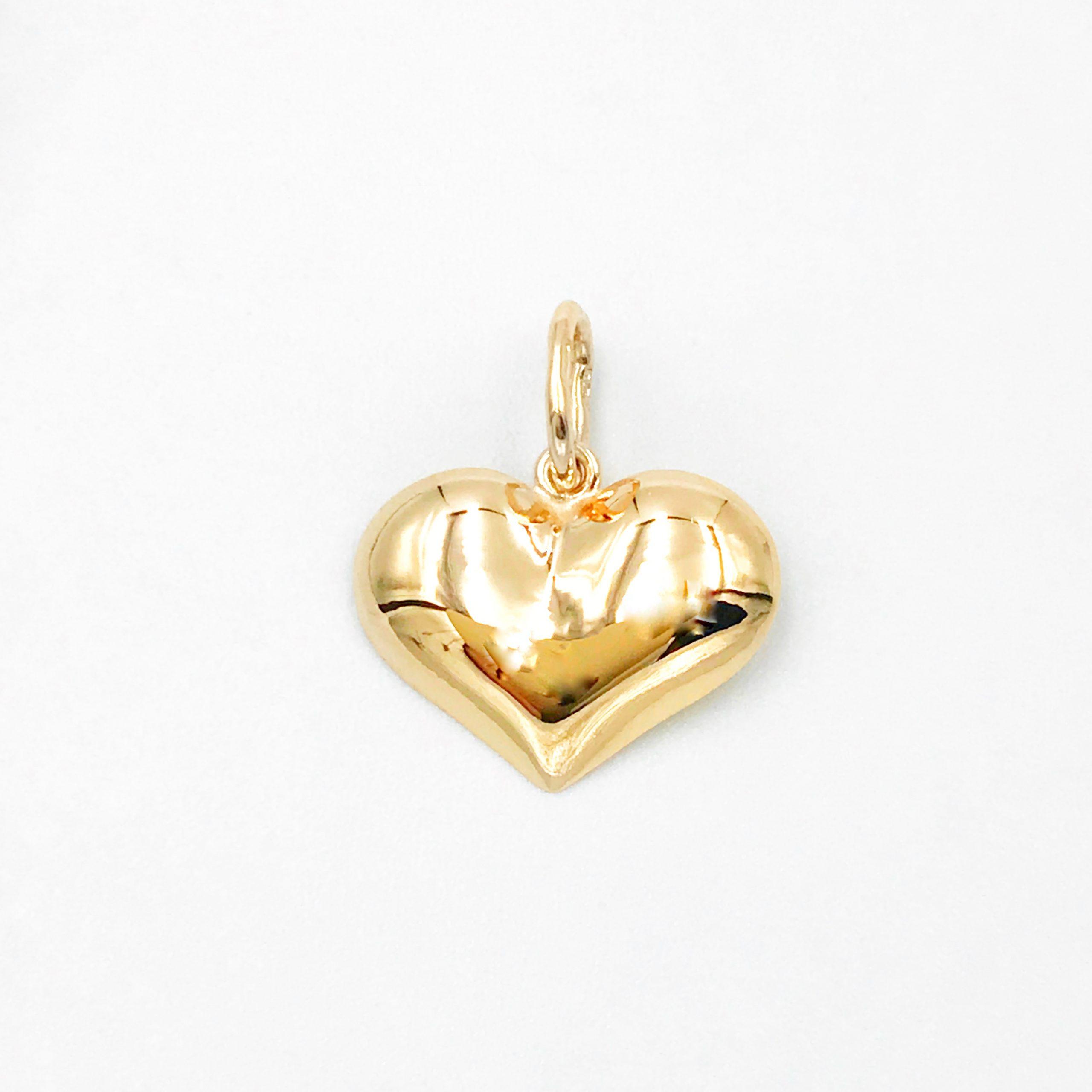 Золота підвіска серце