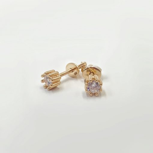 Золоті сережки пусети