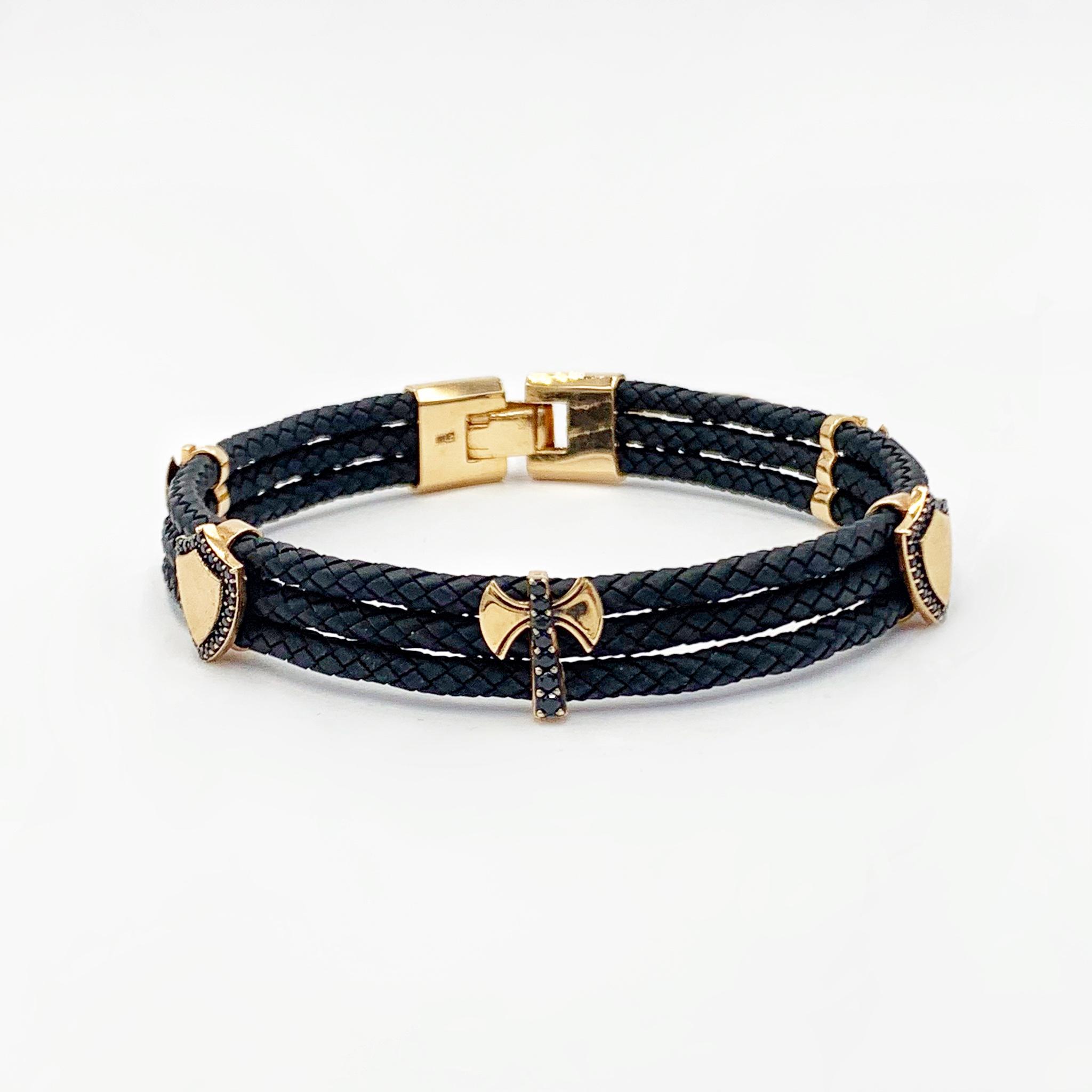 золотий браслет каучук