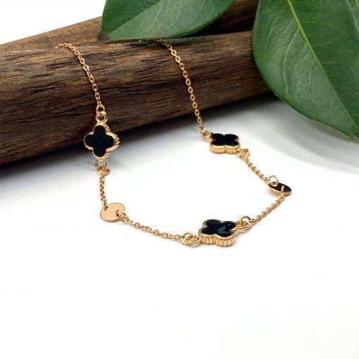 Золотий браслет емаль