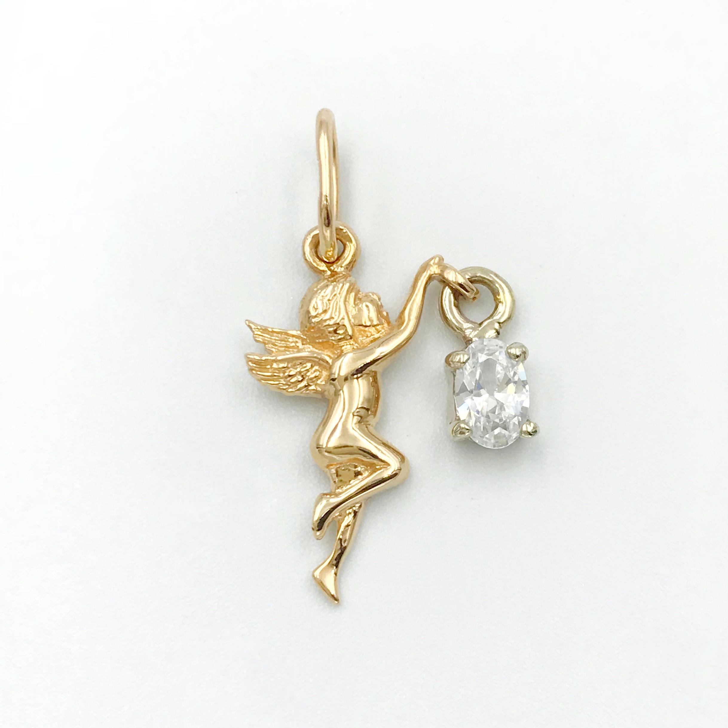 золота підвіска ангел