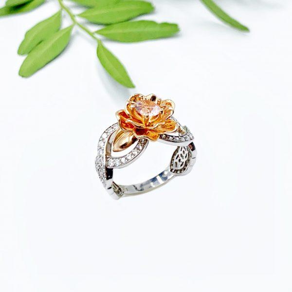 золотий перстень біле зоото