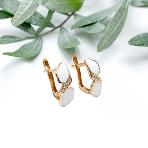Золоті сережки з емаллю