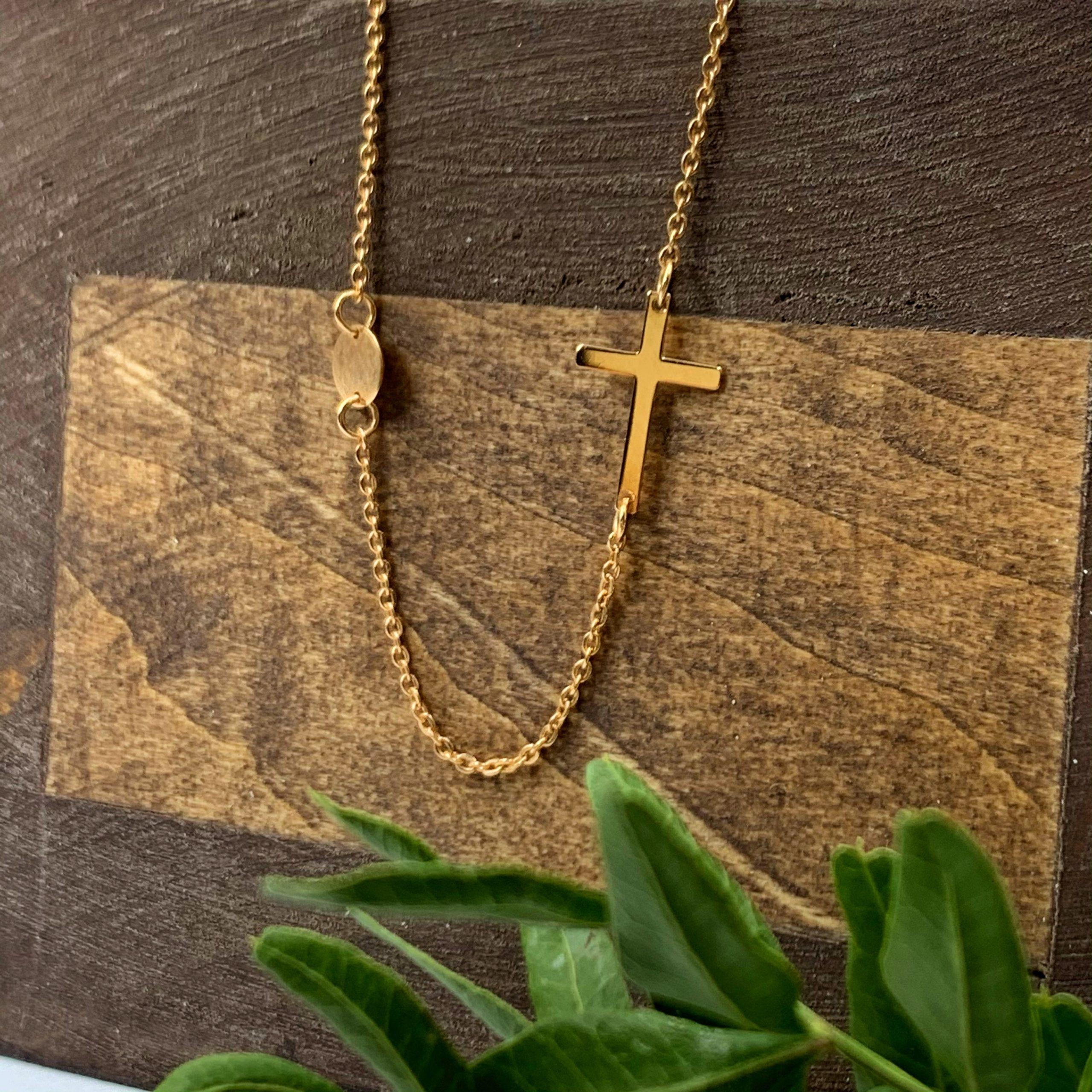 золоте кольє з хрестиком